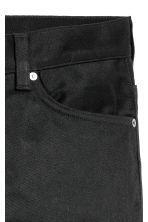 Straight Regular Jeans - Black/No fade black - Men | H&M 4