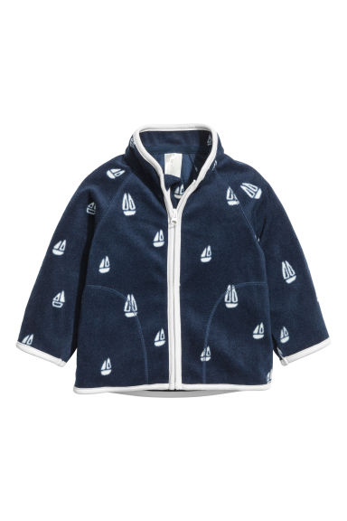 Fleece jacket - Dark blue/Boat - Kids | H&M CN 1