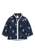 Fleece jacket - Dark blue/Boat - Kids | H&M 1