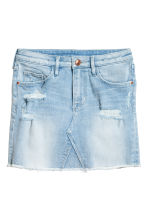 Denim skirt - Light denim blue - Kids | H&M CN 2
