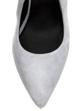 Suede court shoes - Light grey - Ladies | H&M GB 3