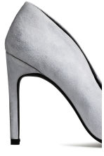 Suede court shoes - Light grey - Ladies | H&M GB 4