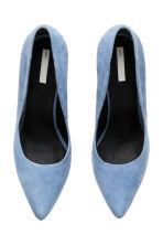 Suede court shoes - Light blue - Ladies | H&M CN 2