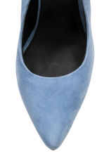 Suede court shoes - Light blue - Ladies | H&M CN 3