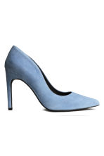 Suede court shoes - Light blue - Ladies | H&M CN 1