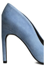 Suede court shoes - Light blue - Ladies | H&M CN 4