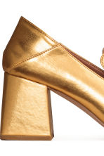 Block-heeled loafers - Gold - Ladies | H&M CN 5