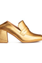 Block-heeled loafers - Gold - Ladies | H&M CN 3