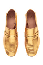 Block-heeled loafers - Gold - Ladies | H&M CN 2