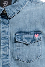 Long denim shirt - Denim blue - Kids | H&M CA 3