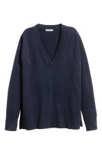 Cashmere jumper - Dark blue - Ladies | H&M GB 2