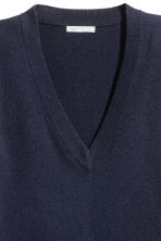 Cashmere jumper - Dark blue - Ladies | H&M GB 3