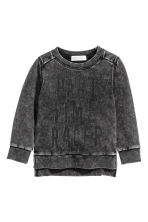 Sweat avec impression - Noir washed out -  | H&M FR 2