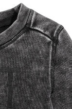Printed sweatshirt - Black washed out -  | H&M 3