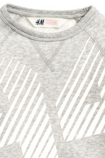 Printed sweatshirt - Grey marl - Kids | H&M CN 3