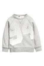 Printed sweatshirt - Grey marl - Kids | H&M 2