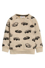 Printed sweatshirt - Beige/Cars - Kids | H&M 2