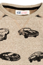 Printed sweatshirt - Beige/Cars - Kids | H&M 3