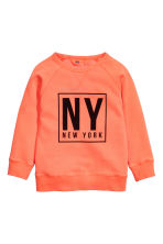 Printed sweatshirt - Neon orange/New York -  | H&M CN 2