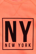 Printed sweatshirt - Neon orange/New York -  | H&M 3
