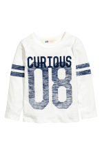 Long-sleeved T-shirt - White - Kids | H&M 2