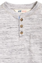 Henley shirt - Light grey marl -  | H&M 3