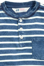 Henley shirt - Blue/Striped -  | H&M 3