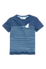 Printed T-shirt - Blue -  | H&M CN 2