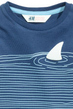 Printed T-shirt - Blue - Kids | H&M CN 3