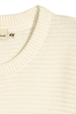 Textured cotton jumper - White - Men | H&M 3