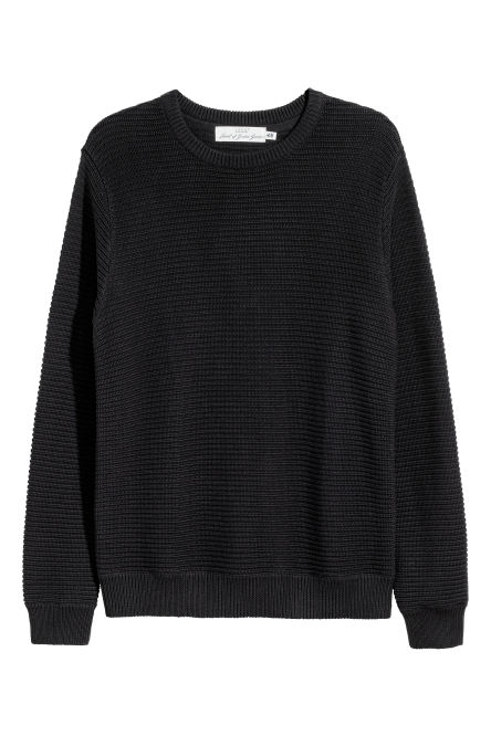 Textured cotton jumper
