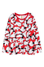 Long-sleeved top - Red/Mickey Mouse - Ladies | H&M CN 2