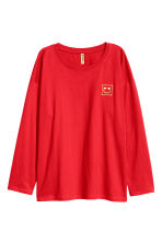 Long-sleeved top - Red - Ladies | H&M 2