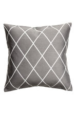 Jacquard-weave cushion cover - Grey - Home All | H&M GB 1