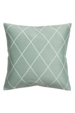 Jacquard-weave cushion cover - Dusky green - Home All | H&M CN 1