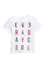 Printed T-shirt - White -  | H&M CN 2