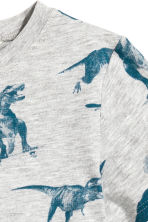 Printed T-shirt - Light grey/Dinosaurs -  | H&M 3