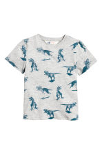 Printed T-shirt - Light grey/Dinosaurs -  | H&M 2