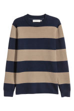 Fine-knit jumper - Dark blue/Striped - Men | H&M 2