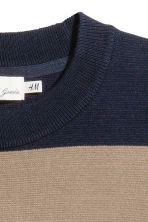 Fine-knit jumper - Dark blue/Striped - Men | H&M 4