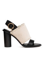 Sandali - Bianco naturale/nero - DONNA | H&M IT 2