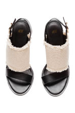 Sandals - Natural white/Black - Ladies | H&M 3