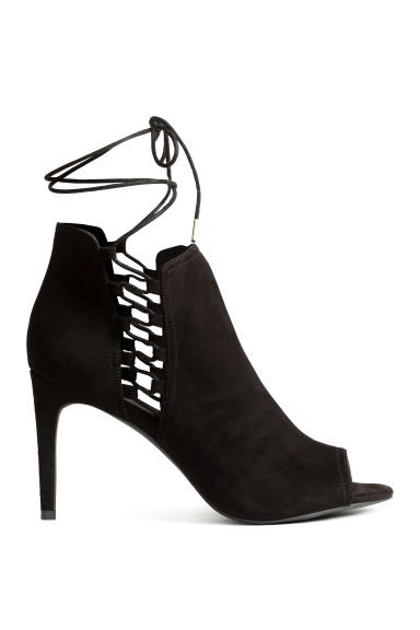 Peep-toe ankle boots - Black - Ladies | H&M 1