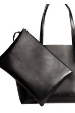 Shopper with a clutch bag - Black - Ladies | H&M 3