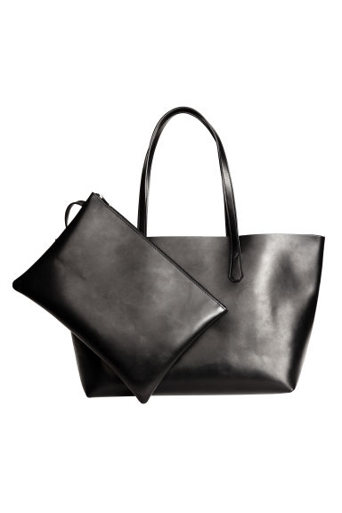 Shopper with a clutch bag - Black - Ladies | H&M 1