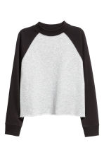 Cropped sweatshirt - Black - Ladies | H&M 2