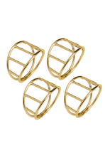 4-pack napkin rings - Gold - Home All | H&M CA 2