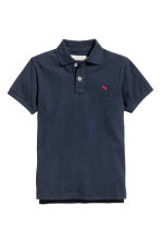 Generous fit Polo shirt - Dark blue -  | H&M 1