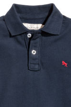 Generous fit Polo shirt - Dark blue -  | H&M 2
