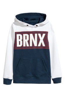 Generous fit Hooded top